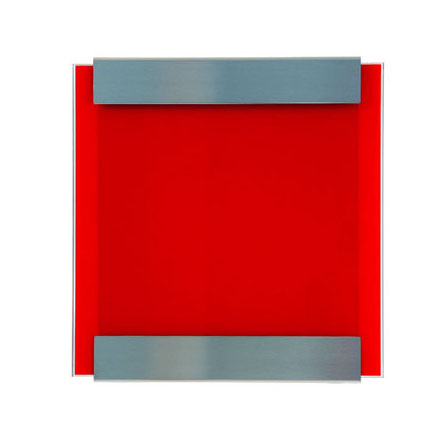 Keilbach Briefkasten Glasnost Glass Red