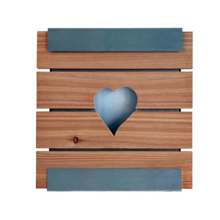 Keilbach Briefkasten Glasnost Wood Heart